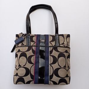 Coach Signature Multi Stripe Tote Bag